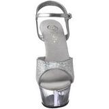 Transparent 15 cm KISS-210 Glitter Platå Högklackade Skor