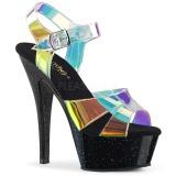 Transparent 15 cm KISS-220MMR högklackade sandaletter