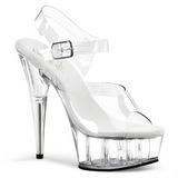 Transparent 15 cm Pleaser DELIGHT-608 High Heels Platform