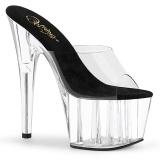 Transparent 18 cm ADORE-701 Exotic stripper high heel mules