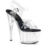 Transparent 18 cm ADORE-708RSTG high heeled sandals