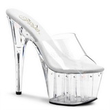 Transparent 18 cm Pleaser ADORE-701LS Platå Slip in skor