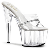 Transparent 18 cm Pleaser ADORE-701R Högklackade Slipper Damskor