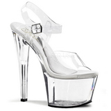Transparent 18 cm TREASURE-708 strippskor poledance sandaletter skor