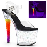 Transparent 18 cm UNICORN-708MG Pole dancing high heels shoes