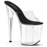 Transparent 20 cm FLAMINGO-801 Exotic stripper high heel mules