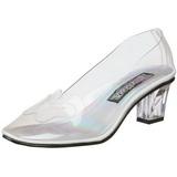 Transparent 5 cm CRYSTAL-103 High Heeled Evening Pumps Shoes