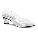 Transparent 5 cm CRYSTAL-103 Höga Pumps Festskor med Klack