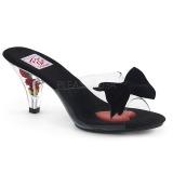 Transparent 8 cm BELLE-301BOW High Women Mules Shoes for Men