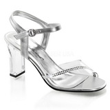 Transparent Crystal 8,5 cm ROMANCE-308R High Heeled Evening Sandals