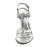 Transparent Kristall 11,5 cm CLEARLY-426 Höga Fest Sandaler med Klack