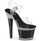 Transparent high heels 18 cm SPECTATOR-708RS platå high heels