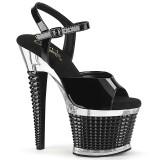 Transparent high heels 18 cm SPECTATOR-709 platå high heels