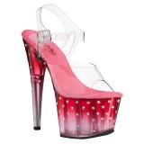 Transparent high heels 18 cm STARDUST-708T platå high heels