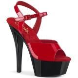 Tvåfärgad 15 cm Pleaser KISS-209 Höga sandaletter med klack