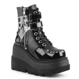 Vegan 11,5 cm SHAKER-57 lolita ankle boots platform