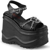 Vegan 15 cm Demonia WAVE-09 lolita platform wedge sandals