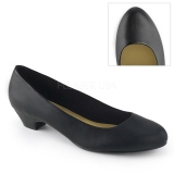 Vegan 3 cm GWEN-01 pumps for mens and drag queens in black