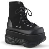 Vegan 7,5 cm NEPTUNE-115 demonia ankle boots - unisex platform ankle boots