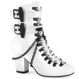 Vegan 7,5 cm VIVIKA-128-2 Victorian ankle boots cuben heels