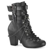 Vegan 7,5 cm VIVIKA-128 Victorian ankle boots cuben heels