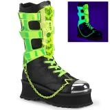 Vegan 7 cm GRAVEDIGGER-255 demonia boots - unisex cyberpunk boots