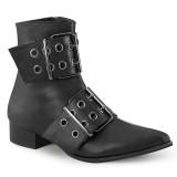 Vegan WARLOCK-55 spetsiga boots - herr winklepicker boots 2 spännen