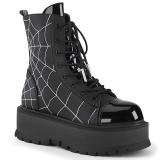 Vegan black 5 cm SLACKER-88 demonia ankle boots platform