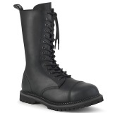 Vegan leather RIOT-14 demonia boots - unisex steel toe combat boots