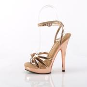 Vegan rosa guld sandaler 15 cm SULTRY-638 platå högklackat sandaler