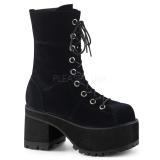 Velvet 10 cm Demonia RANGER-301 gothic platform ankle boots