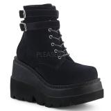 Velvet 11,5 cm SHAKER-52 lolita ankle boots goth wedge platform