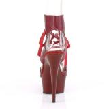 Vinröd Konstläder 15 cm DELIGHT-600-14 pleaser platåsandaletter för kvinnor