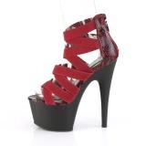 Vinröd elastiskt band 18 cm ADORE-748SP pleaser skor med hög klack