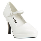 Vit 10 cm CONTESSA-50 Mary Jane Pumps Skor
