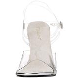 Vit 11,5 cm FABULICIOUS GALA-08 Höga fest sandaler med klack