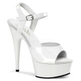 Vit 15 cm DELIGHT-609 pleaser high heels skor
