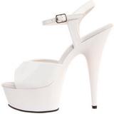 Vit 15 cm Pleaser DELIGHT-609 Högklackade Sandaletter