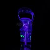 Vit 18 cm MOON-708RSS Neon platå klackar skor