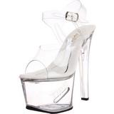 Vit 18 cm TIPJAR-708-5 strippskor poledance sandaletter skor