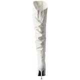 Vit Konstläder 10 cm CLASSIQUE-3011 Overknee Stövlar med Klackar