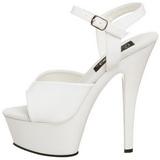 Vit Lack 15 cm Pleaser KISS-209 Höga sandaletter med klack