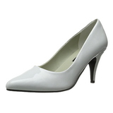 Vit Lackerade 7,5 cm PUMP-420 Klassiska Pumps Klackskor Dam