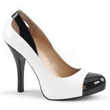 Vit Lackläder 12,5 cm EVE-07 stora storlekar pumps skor