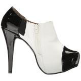 Vit Lackläder 13,5 cm CHLOE-11 stora storlekar pumps skor