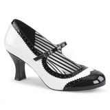 Vit Lackläder 7,5 cm JENNA-06 stora storlekar pumps skor