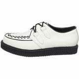 Vit Läder 2,5 cm CREEPER-602 Platå Creepers Skor för Män