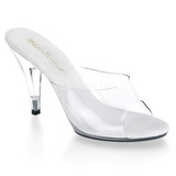 Vit Transparent 11 cm CARESS-401 Högklackade Slipper Skor