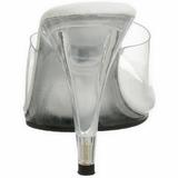 Vit Transparent 11 cm CARESS-401 Högklackade Slipper Skor