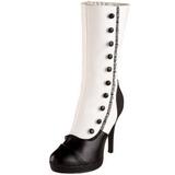 White 11,5 cm SPLENDOR-130 womens platform soled ankle boots